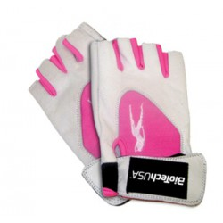 BioTechUSA Lady 1 - női pink fehér kesztyű M (közepes)