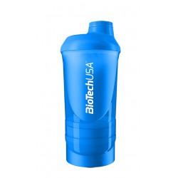 BioTechUSA Wave+ Shaker 600ml (+200ml +150ml) Blue (Kék)