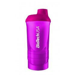 BioTechUSA Wave+ Shaker 600ml (+200ml +150ml) Magenta (Rózsaszín)
