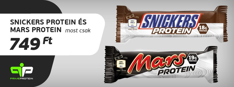 Mars, Snikers Protein szelet